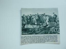 """Origineel Knipsel ( A 135 ) Uit Tijdschrift """" De Stad """"  1933 :  Brand   Bissegem - Zonder Classificatie"""