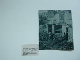 """Origineel Knipsel ( A 136 ) Uit Tijdschrift """" De Stad """"  1933 :  Brand   Sint - Amandsberg - Zonder Classificatie"""