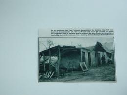 """Origineel Knipsel ( A 141 ) Uit Tijdschrift """" De Stad """"  1933 :  Brand   Lokeren  Wijk """" De Wortel """" - Zonder Classificatie"""