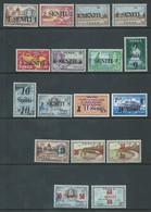 Tonga 1967 Provisional Decimal Currency Overprint Post Set 17 MNH - Tonga (1970-...)