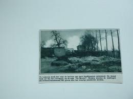 """Origineel Knipsel ( A 142 ) Uit Tijdschrift """" De Stad """"  1933 :  Brand   Lokeren - Zonder Classificatie"""