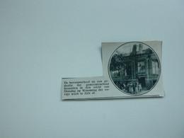 """Origineel Knipsel ( A 145 ) Uit Tijdschrift """" De Stad """"  1933 :  Brand   Zele - Zonder Classificatie"""