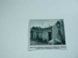 """Origineel Knipsel ( A 146 ) Uit Tijdschrift """" De Stad """"  1933 :  Brand   Lokeren - Zonder Classificatie"""