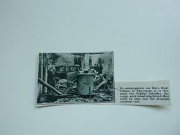"""Origineel Knipsel ( A 147 ) Uit Tijdschrift """" De Stad """"  1933 :  Brand   Zwevegem - Zonder Classificatie"""