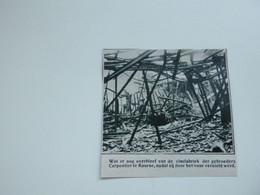 """Origineel Knipsel ( A 148 ) Uit Tijdschrift """" De Stad """"  1933 :  Brand   Kuurne - Zonder Classificatie"""