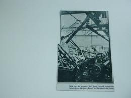 """Origineel Knipsel ( A 149 ) Uit Tijdschrift """" De Stad """"  1933 :  Brand   Mariakerke Bij Gent - Zonder Classificatie"""