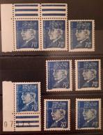 France/French Stamp 1941-42 N°510 8 Timbres Avec Varités Dont Un 7 Sans Barre Médiane ** Et *TB - Ungebraucht