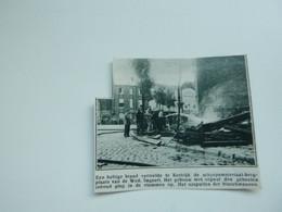 """Origineel Knipsel ( A 150 ) Uit Tijdschrift """" De Stad """"  1933 :  Brand   Kortrijk - Zonder Classificatie"""