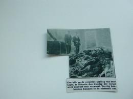 """Origineel Knipsel ( A 151 ) Uit Tijdschrift """" De Stad """"  1933 :  Brand  Zelzate - Zonder Classificatie"""
