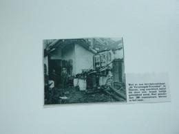 """Origineel Knipsel ( A 152 ) Uit Tijdschrift """" De Stad """"  1933 :  Brand     Ninove - Zonder Classificatie"""