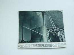 """Origineel Knipsel ( A 153 ) Uit Tijdschrift """" De Stad """"  1933 :  Brand     Kuurne Bij Kortrijk - Zonder Classificatie"""
