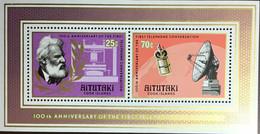 Aitutaki 1976 Telephone Centenary Minisheet MNH - Aitutaki