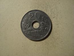 MONNAIE FRANCE 20 CENTIMES ETATS FRANCAIS 1942 ( Type 20 , Lourde ) - E. 20 Centesimi