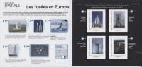 Les Fusées En Europe Aventure Spatiale 4 Timbres Lettre Verte -20g Cadre MonTimbraMoi - Collectors