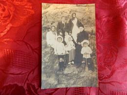 GRANVILLE :TRES BELLE PHOTO CARTE DE LA FAMILLE GEORGES LE ROUSSEL A GRANVILLE 1 SEPTEMBRE 1912 - Sonstige