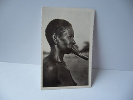 AFRICA AFRIQUE 15. KIABE TCHAD A.E.F. SARA KABA AVEC SES PLATEAUX CPSM FORMAT CPA PHOTO R.PAULEAU DOUALS CAMEROUN - Chad