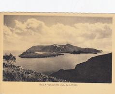 LIPARI-MESSINA-VULCANO VISTA DA LIPARI-CARTOLINA NON VIAGGIATA -DATATA AGOSTO 1956 - Messina