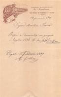 """02219 """"TORINO - STABILIMENTO BALNEO-IDROTERAPICO """"LA PROVVIDENZA"""" 12 GENNAIO 1899"""" RICEVUTA PAGAMENTO - Unclassified"""