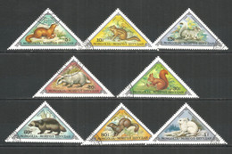 Mongolia 1973 Used Stamps CTO Mi. # 797-804 Animals - Mongolia