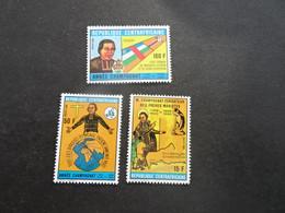 K46046 - Set MNH Central Africa 1989 - SC. 929-931 - M.Champagnat - Central African Republic