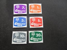 K46054 - Set  MNH Gibraltazr 1976 - SC. J7-12 - Postage Due - To Pay - Gibraltar