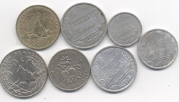 LOT  Polynésie Française 100 FRANCS 1976 + 50 FRANCS 1975 + 20 FRANCS 1970 + 5 FRANCS 1965 +1952 + 1 ET  2 FRANCS 1975 - Französisch-Polynesien