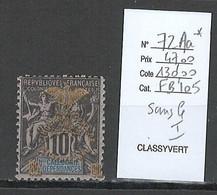 Nouvelle Calédonie - Yvert 105Aa*- VARIETE SANS LE I - Série Du Cinquantenaire - Nuevos