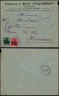 DEL065 - Lettre Occupation De Givet France à Namur 1916 - Pédicure - Altre Lettere