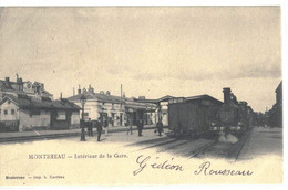 CPA  MONTEREAU   Intérieur De La Gare - Montereau