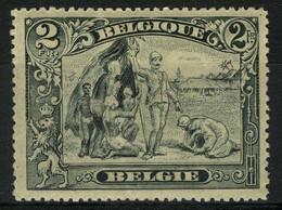 """België 146b * - Lichtgrijs - Witte Neger - Gris Pâle Dit """"nègre Blanc"""" - Plaatfouten (Catalogus OCB)"""