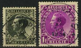 "België 390 + 392 - Koning Leopold III - ""Invaliden"" - Roi Léopold III - ""Invaledes"" - O - Used - Used Stamps"