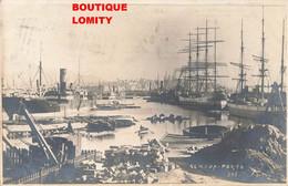 Italie Genova Genes Cpa Porto Port Bateau Cargo Grue + Timbre Taxe Cachet 1907 - Genova (Genoa)