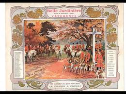 CAL029  .LA  BELLE JARDINIERE .RAMBOUILLET  CHASSE  .CALENDRIER  ALMANACH  1906  Signé  Georges  SCOTT¨. - Big : ...-1900