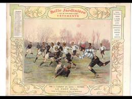 CAL030  .LA  BELLE JARDINIERE .FOOTBALL  SAINT CLOUD  .CALENDRIER  ALMANACH  1906  Signé  Georges  SCOTT¨. - Big : ...-1900