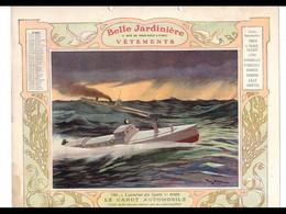 CAL031  .LA  BELLE JARDINIERE .CANOT  TORPILLEUR  .CALENDRIER  ALMANACH  1906  Signé  Georges  SCOTT¨. - Big : ...-1900