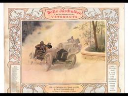 CAL032  .LA  BELLE JARDINIERE .L ' AUTOMOBILE  .CALENDRIER  ALMANACH  1906  Signé  Georges  SCOTT¨. - Big : ...-1900