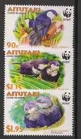 Aitutaki - 2002 - N°Yv. 590 à 592 - Blue Lorikeet / WWF - Neuf Luxe ** / MNH / Postfrisch - Non Classificati