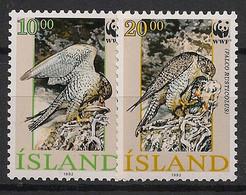 Island - 1992 - N°Yv. 730 à 731 - Gerfaut / WWF - Neuf Luxe ** / MNH / Postfrisch - Eagles & Birds Of Prey