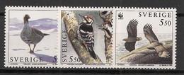 Sverige - 1994 - N°Yv. 1830 - 1831 - 1832 - Oiseaux / WWF - Neuf Luxe ** / MNH / Postfrisch - Non Classificati