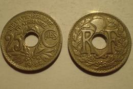 1922 - France - 25 CENTIMES, Lindauer, KM 867a, Gad 380 - F. 25 Centesimi