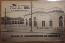 Carte Postale Nouvelles Gare Des Tramways Départementaux Et Gare Des Charentes P.O. - Limoges