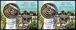 Vaticano-Israele / Vatican-Israel 2019: 2 Foglietti Relazioni Diplomatiche / Diplomatic Relations Joint Issue, 2 S/S ** - Joint Issues