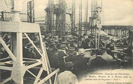 """SAINT NAZAIRE - Chantiers De L'Atlantique, M.Baudin, Ministre De La Marine, Pose Le Premier Rivet Du Paquebot """"Paris"""". - Saint Nazaire"""