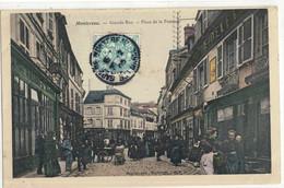CPA  MONTEREAU   Grande Rue , Place De La Pompe - Montereau