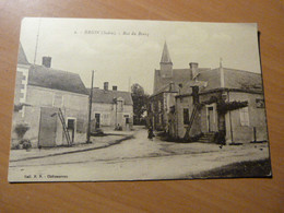 CPA. Brion ( Indre ) Rue Du Bourg - 1901-1940