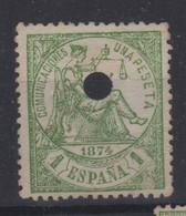 1874 Telégrafos Edifil 150T(º) Valor Catálogo 8,75€ - Oblitérés