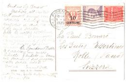 Italia - 50c Con Appendice Pubblicitaria Grafofono Columbia - Cartoline 1925 - Reclame