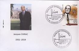 Andorre - Jacques Chirac FDC 2020  Président De La République - Co Prince D'Andorre Sur Env Carte Visite - FDC