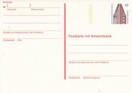 BP 137  Postkarte Mit Antwortkarte 40+40 Pf, Chilehaus Hamburg - Postkarten - Ungebraucht