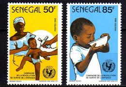Sénégal N° 665 / 66 XX  Campagne Pour La Survie De L'enfant,  Les 2 Valeurs  Sans Charnière, TB - Senegal (1960-...)